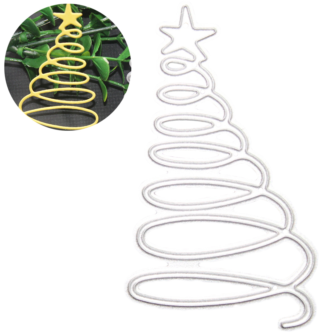 Christmas Tree Metal Cutting Dies Stencil Scrapbooking Embossing Greeting Card Craft For Home Christmas Party Decorations