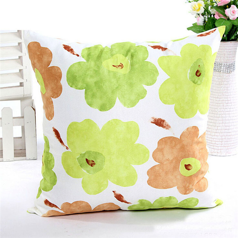 1PC Fashion square flower pillow case cover Spring Garden style cushion waist pillow slip 45*45cm drop shipping on sale