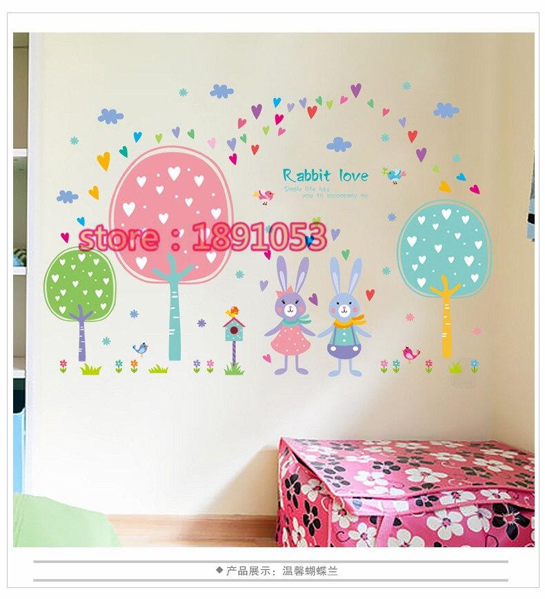 Kartun Stiker Dinding Kamar Bayi Anak Kamar Nursery Dekorasi