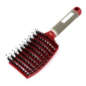 Image 4 - פרו נשים שיער קרקפת עיסוי מסרק זיפי & ניילון מברשת שיער רטוב מתולתל Detangle שיער מברשת לסלון סטיילינג כלים