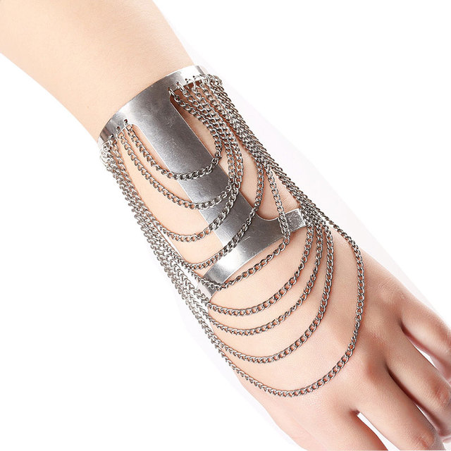 Bohemian Bead Armlet Chain Fringes Upper Arm Bracelet Cuff For Women