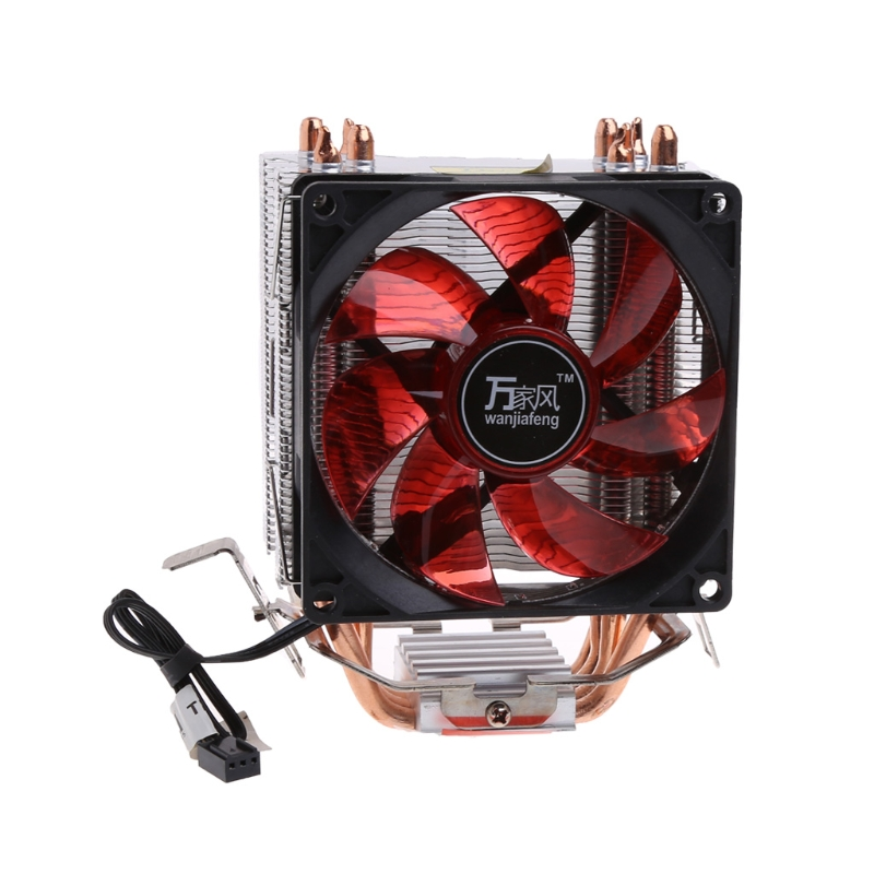 все цены на NoEnName_Null 4 Heatpipe 130W Red LED CPU Cooler Fan Aluminum Heatsink For Intel 1156 AM2 онлайн