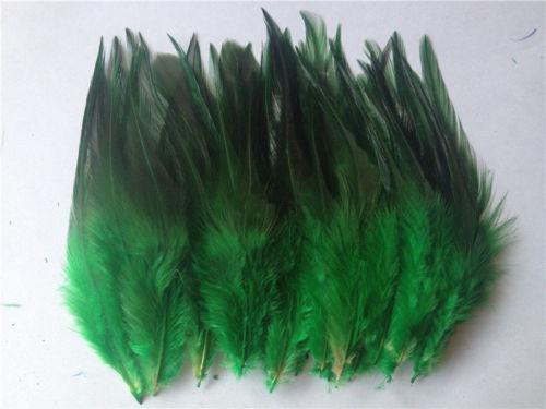 Горячая распродажа! 50 шт синее перо фазана, длина 10-15 см, DIY украшения для ювелирных изделий - Цвет: green