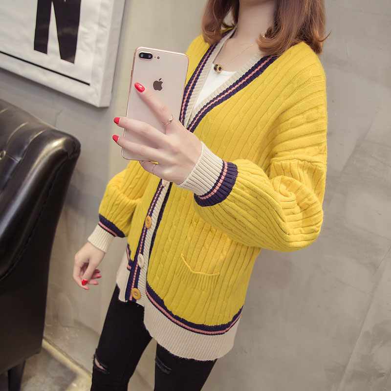 Womens Cardigan Spring 2018 Fashion Sweaters Coat With Button Autumn Ladies Luxury Elega ...