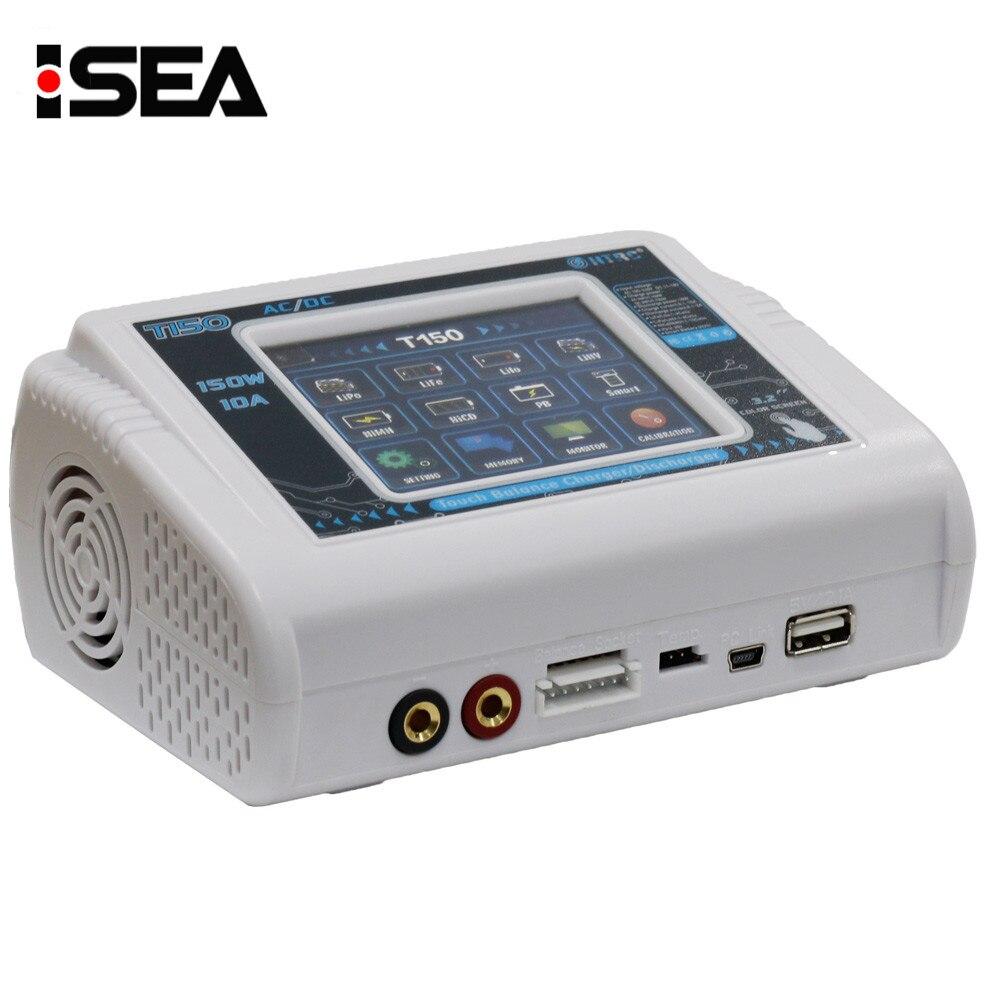 Новый HTRC T150 AC/DC 150 Вт 10A Сенсорный экран RC Баланс Smart Зарядное устройство Dis Зарядное устройство для LiPo lihv жизни литий-ионным NiCd NiMh Pb батареи