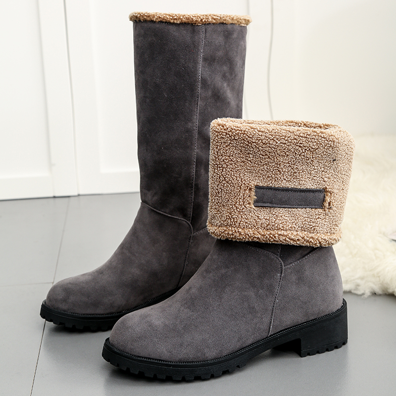 shop grey Snow Boots shoes Warm slip on Boots