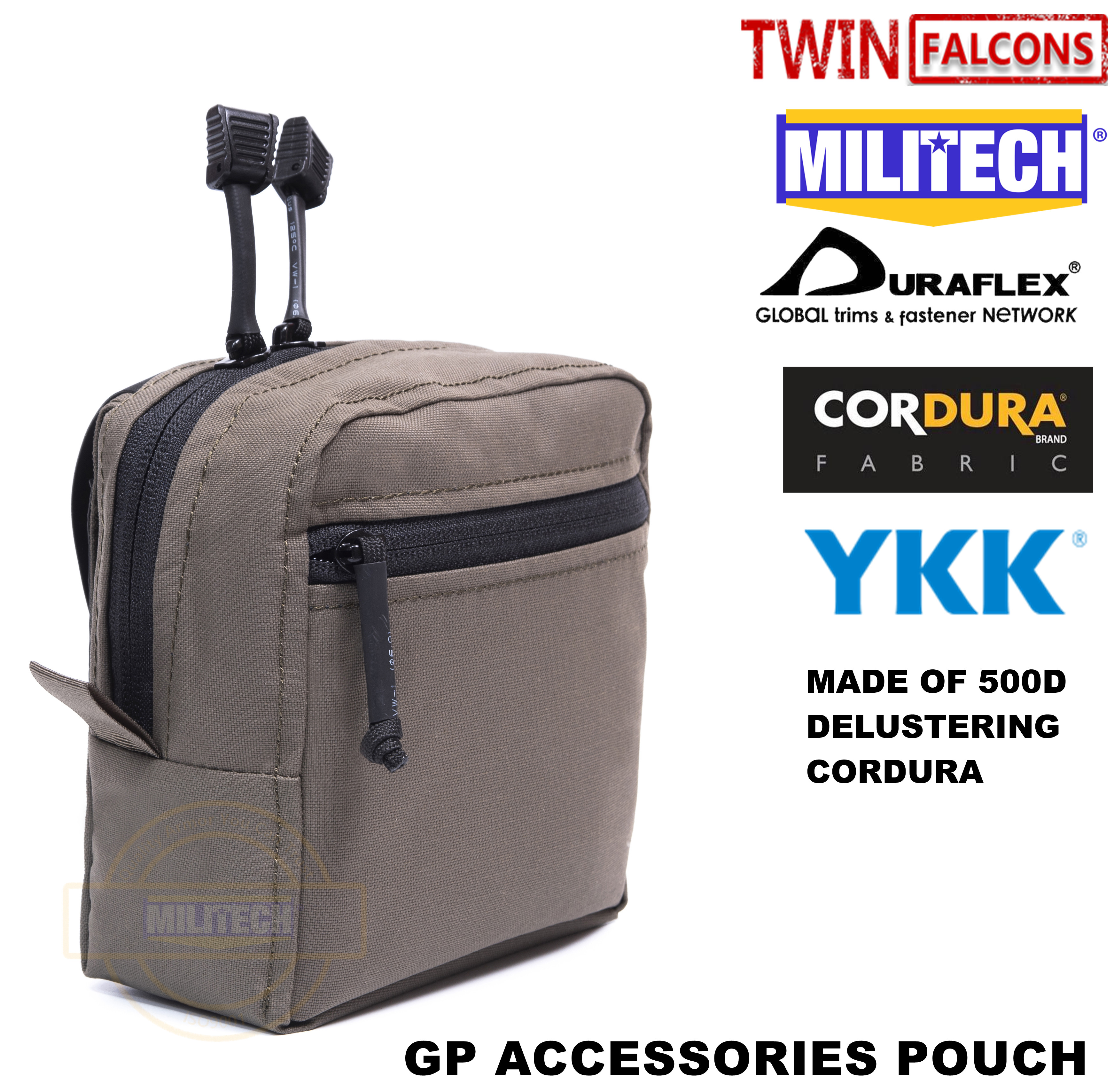 MILITECH TWINFALCONS TW Delustered Cordura Crye CP Smart GP Pouch For AVS CPC JPC Molle Accessories Pouch With SSE Bag
