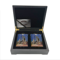 Christmas Souvenir Gifts Dubai Leopard Commemorative Double Playing Card In Box Personalized Gifts