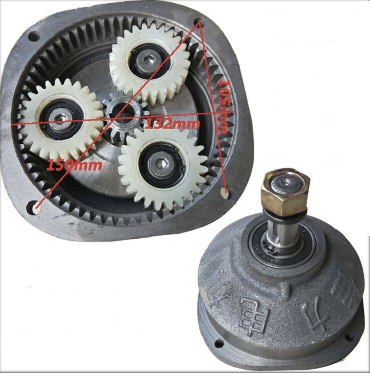 Nylon Gear Center gear:15t . Planet gear:24t  Electric tricycle motor gearbox head reducer assembly