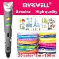 Myriwell 3d Ручка 3d ручки, 1,75 мм ABS/PLA нити, 3 d ручка 2018 SmartChild подарок на день рождения, 3d печать pen3d модель