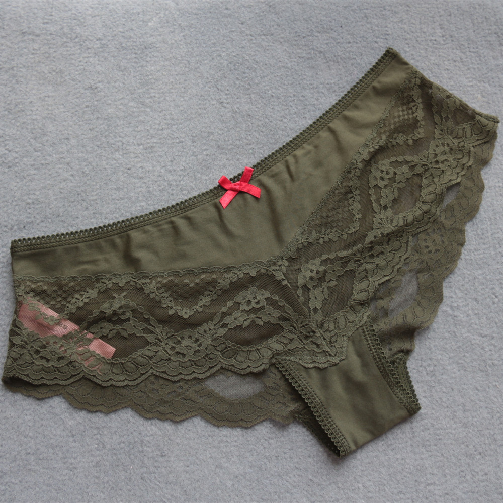 Voplidia Women Underwear Briefs sexy Women Panties 2018 Transparent Lace Seamless String Plus Size Women Underwear Panty PM044