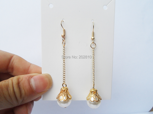 Completely new 2017 new type romantic pearl earrings for girls,big white pearl  IY64