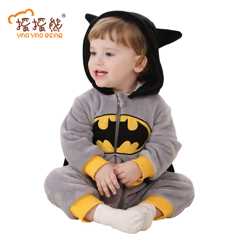 Newborn Spring Minions Clothing Baby rompers Batman Animal Jumpsuit Outwear Baby Boys Girls Clothes Costume bebek giyim 3-24m baby rompers one piece newborn toddler outfits baby boys clothes little girl jumpsuit kids costume baby clothing roupas infantil
