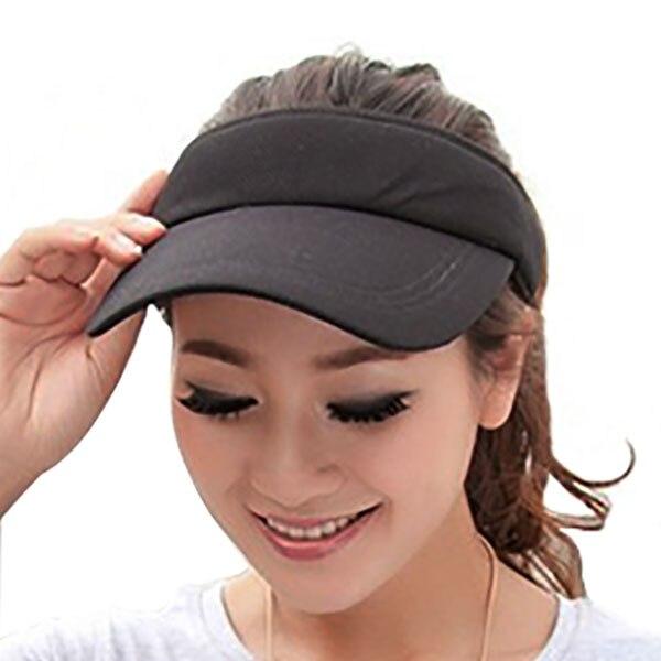 Козырек шляпа летняя женская Солнцезащитная брендовая бейсбольные кепки регулируемый размер Viseira пляжная кепка LQH002 - Цвет: black hat
