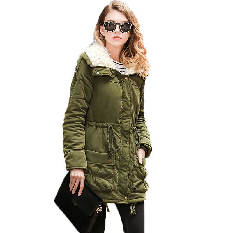 Parkas   Female Women Winter Coat Wadded Cotton Winter Jacket Womens Outwear   Parkas   For Women 2019 Autumn Dropshipping