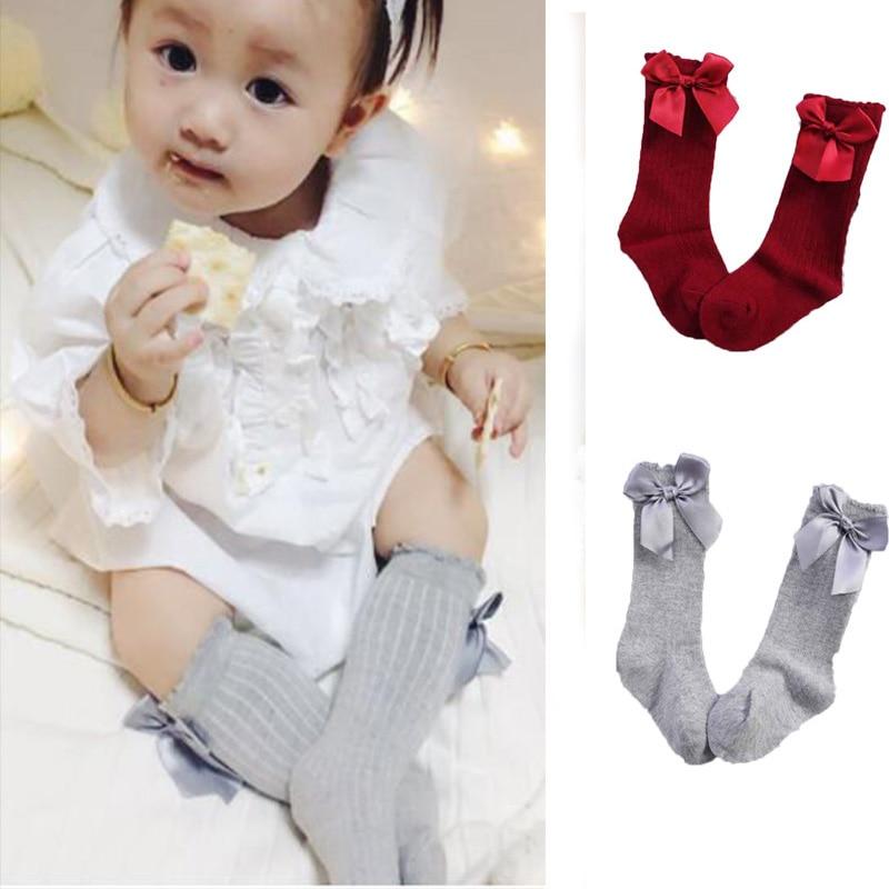 5 Pairs Baby Girl Socks Knee High Princess Socks Cute Lace Long Tube Booties