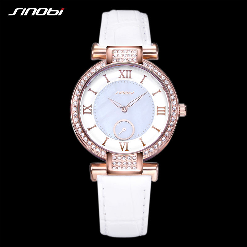 SINOBI Fashion Women's Wrist Watches Top Luxury Brand Female Leather Strap Golden Ladies Quartz Watch Clock relogio feminino бейли д джонс дж искусство плетения кос page 8