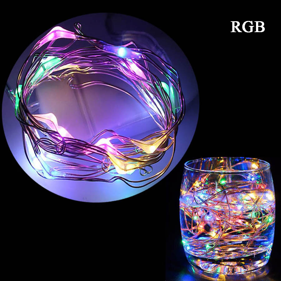 GBKOF 5M 50 LED 3XAA Battery Operated LED String Lights for Xmas Garland Party Wedding D ...