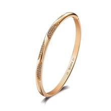 MxGxFam Zricon браслет для женщин модные ювелирные изделия Золото Цвет 18 К AAA+ без аллергии на кожу никель бесплатно