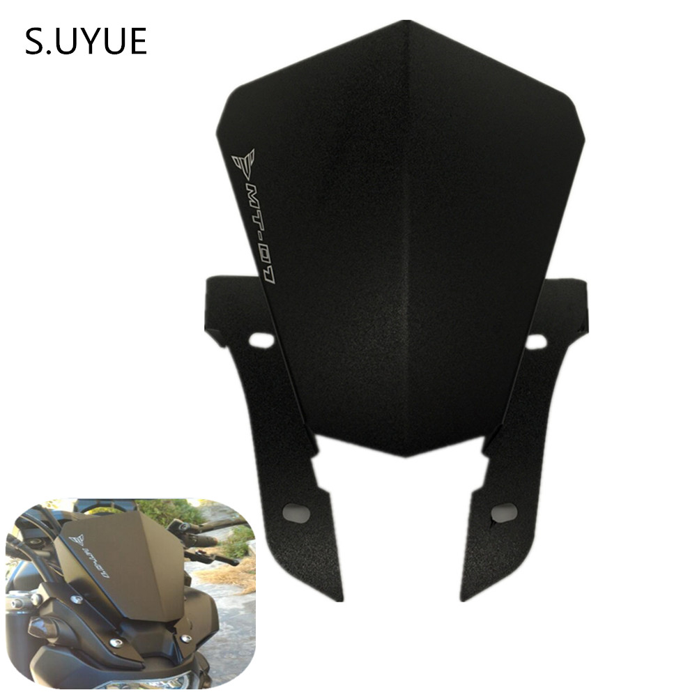 S.UYUE For YAMAHA MT-07 MT07 Motorbike Windshield Windscreen For Yamaha MT07 MT-07 FZ-07 2013 2014 2015 2016 2017 Aluminum motorcycle cnc aluminum windscreen windshield mounting bracket for yamaha mt07 mt 07 2014 2015 2016 red new style with logo