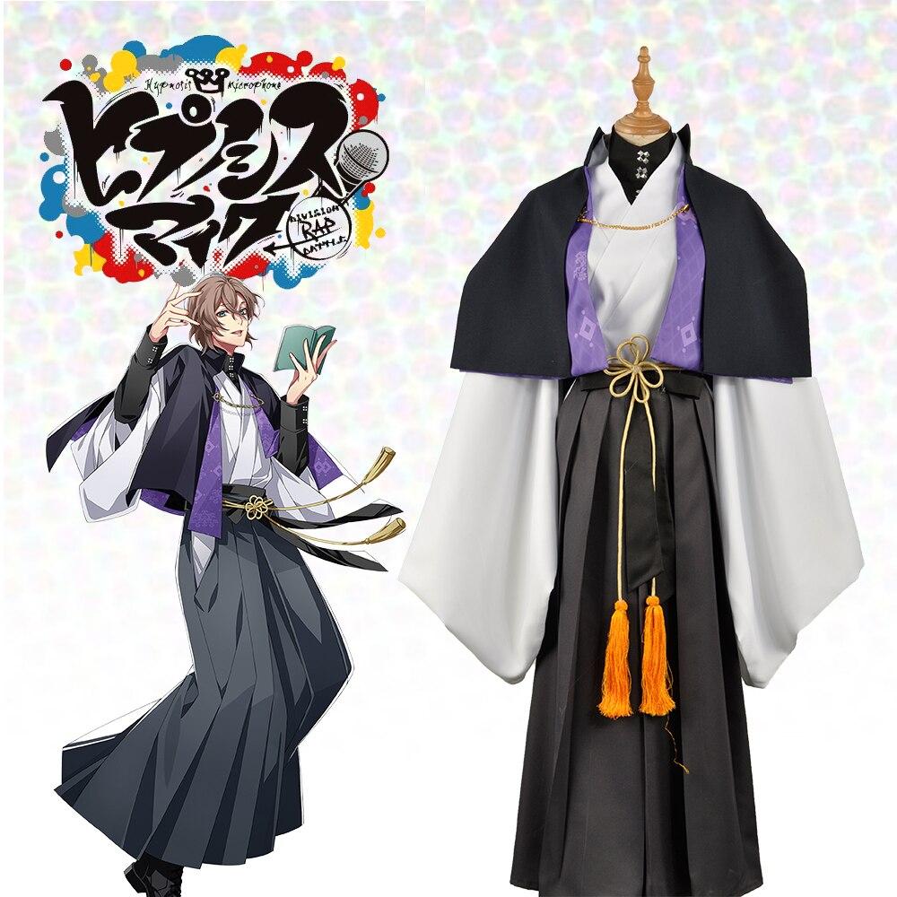 Japanese Voice Actor Division Rap Battle Fling Posse Yumeno Gentarou Phantom Men Adult Tops Belt Outfit