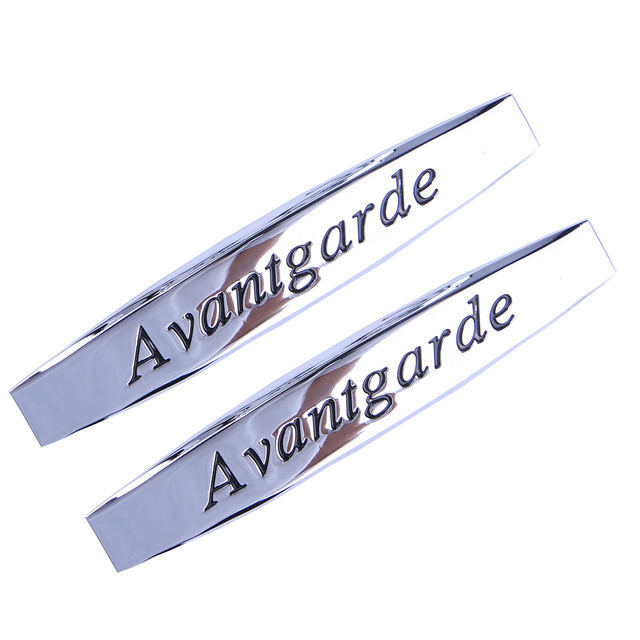 US $4 99 |For Avantgarde Logo Badge Emblem For Mercedes Benz W210 W211 W124  W168 W203 W204 G500 S320 Car Exterior Styling Decoration -in Car Stickers