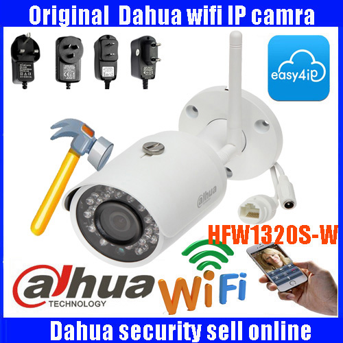 Original Dahua 3MP DH-IPC-HFW1320-W 3MP wifi wireless IP camera P2P dahua Easy4ip cloud support IP camera  IPC-HFW1320-W dahua dh ipc hfw4421sp 0360b