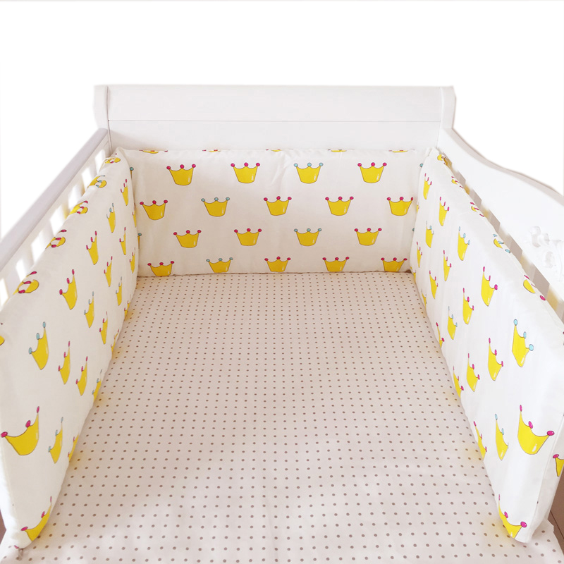 Cotton Linens Baby Safe Bumpers In Crib One-piece Cushion for Baby Bed Guardrail Newborns Cot Bedding 180*30cm Nordic Room Decor