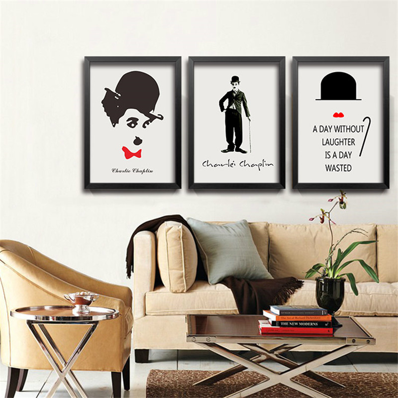 Modern Movie Poster Bar Decor Painting Classic Black White ... on Room Decor Posters id=23523