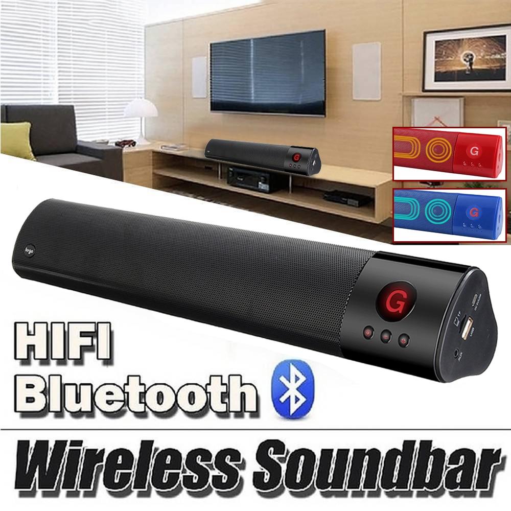 Wireless bluetooth Portable Speaker Sound bar 3D Stereo Subwoofer Audio Speaker HIFI home theater Powerful Soundbar For TV PC