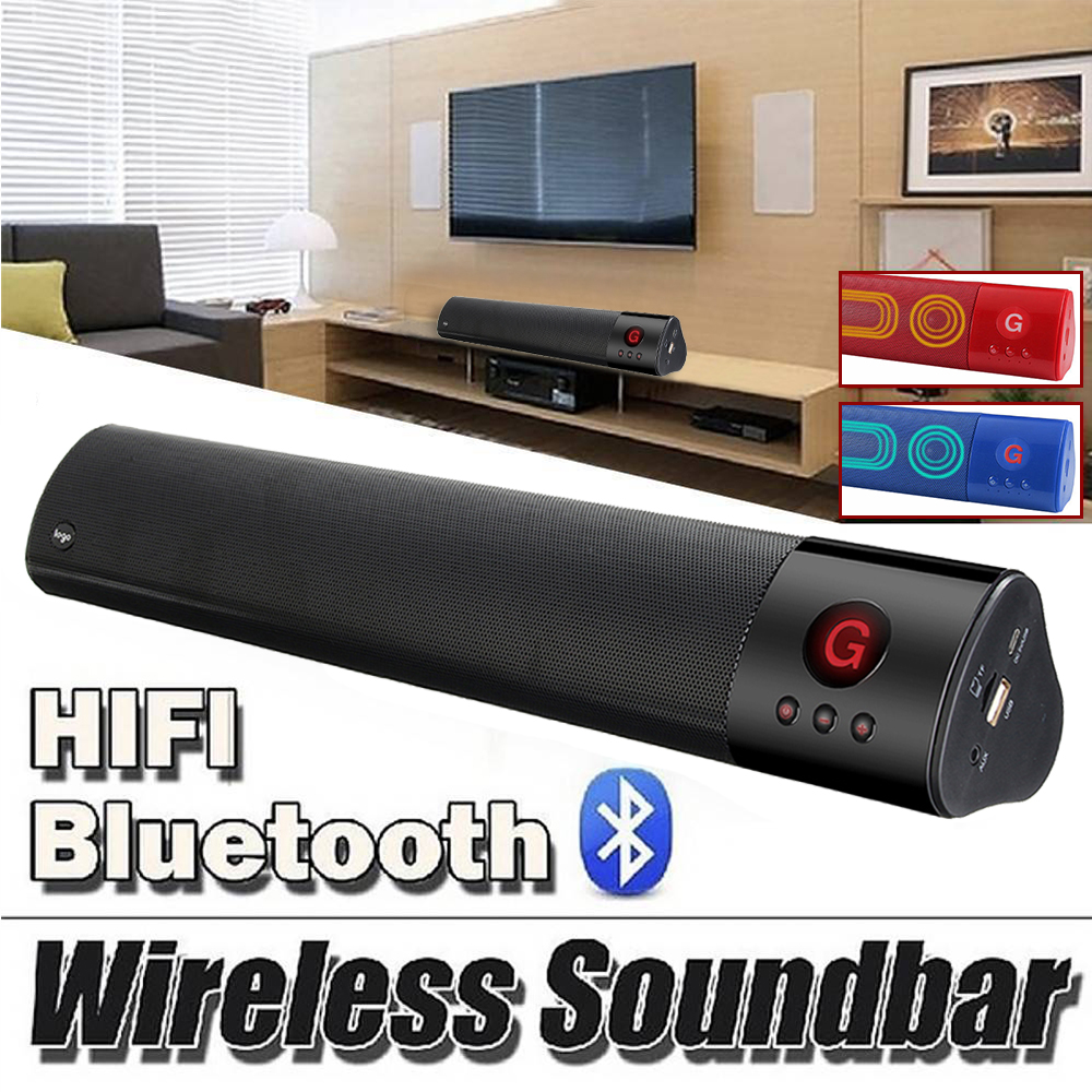 Wireless bluetooth Portable Speaker Sound bar 3D Stereo Subwoofer Audio Speaker HIFI home theater Powerful Soundbar For TV PC цена