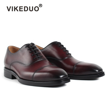 Vikeduo 2019 Vintage Formal Office Shoes For Men Genuine Leather Fashion Wedding Footwear Brand Handmade Zapatos Hombre Oxford