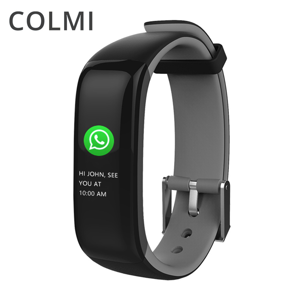 COLMI P1 PLUS Moniteur de Fréquence Cardiaque Sang Pression Couleur Écran de Remise En Forme Tracker Smartband Sport Montre pour ios android PK mi Bande 2