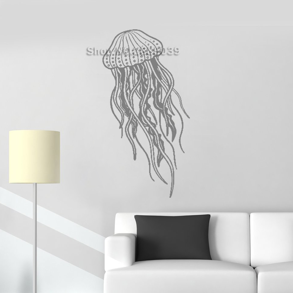 New Sea Themed Jellyfish Wall Decals Removable Vinyl Ocean ...