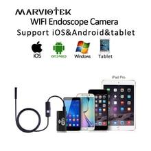 Mini WIFI endoscopio cámara HD resistente al agua suave Cable de cámara de inspección 8mm 720 P USB endoscopio IOS endoscopio para iphone