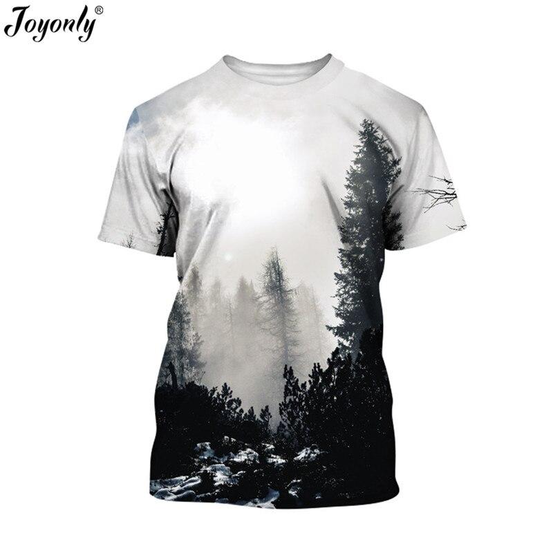 Joyonly 2018 Summer Boys Girls 3d T-shirt Children Printed Winter Forest Trees Pattern T shirt Kids Cool Tops Tees Brand Tshirts