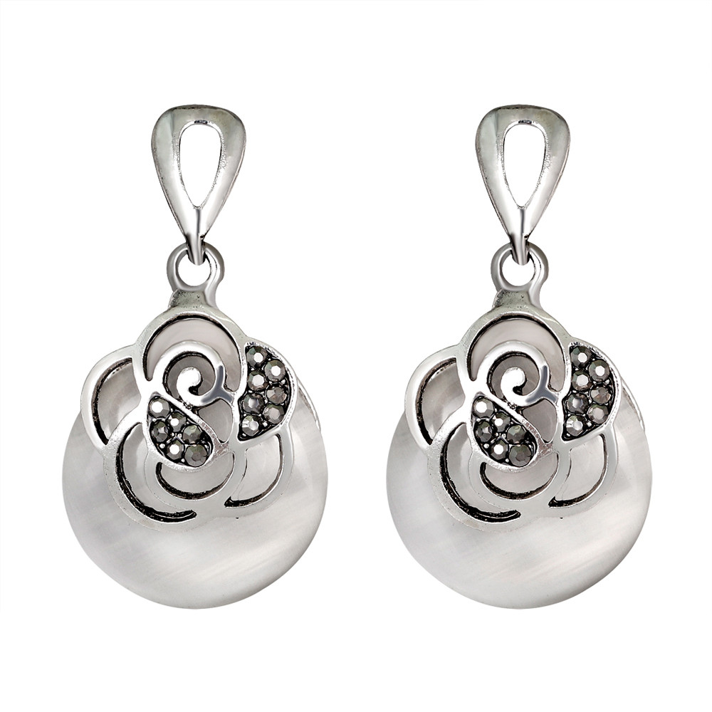 Retro Luxurious Zircon Teardrop earrings jewelery Zircon encrusted earring oorbellen pendientes boucle doreille brinco A1