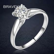 BRAVEKISS, круглые кольца с фианитами, кольца для свадьбы, помолвки, кольца для женщин, классические ювелирные изделия, alliance ringen BJR0137