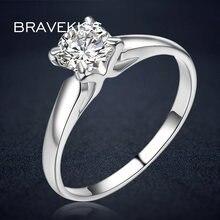 Женские кольца bravekiss круглые с кубическим цирконием классические