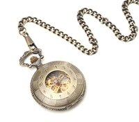 Wholesale Unique Antique Bronze Tone Roman Pocket Watch NR