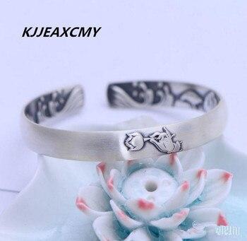 KJJEAXCMY s999 Zuyin retro matte rose female bracelets embossed opening