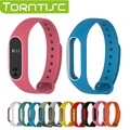 Torntisc High-end Fashion Double Color Silicone Wrist Strap For Xiaomi Mi band 2 Smart Band with Multi-colors