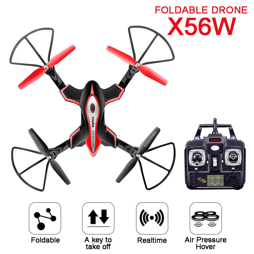 2017 Newest SYMA X56 X56W Control Drone Helicopter Drones Aircraft Quadcopter Foldable Hover RC Dron X56W W/ Wifi Camera syma newest x56w foldable mini drone pocket rc quadcopter one key landing take off wifi fpv