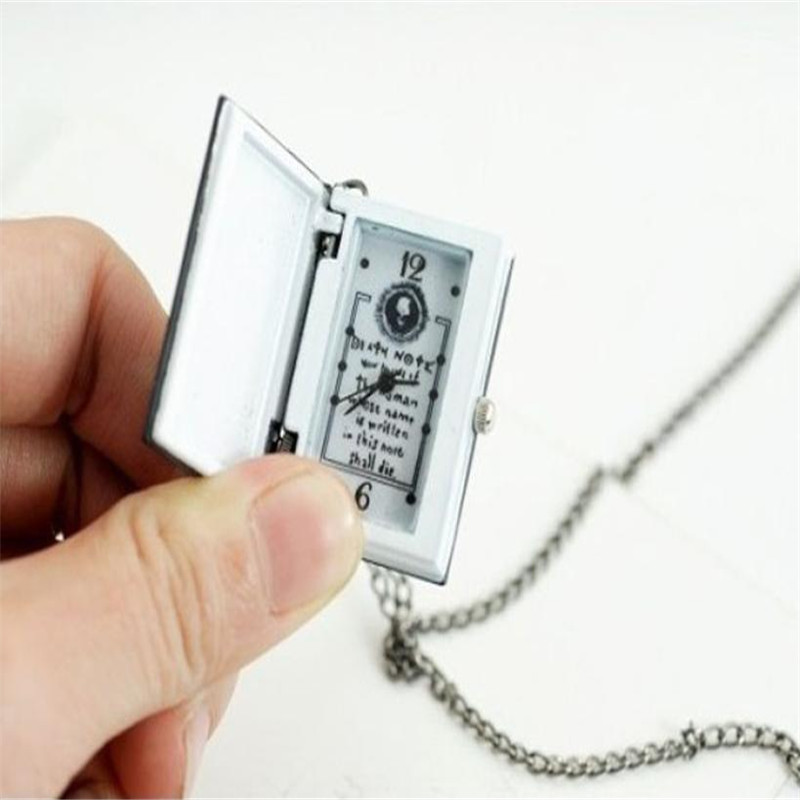 цена на Timezone#301 Simple Unique Death Note Bronze Necklace Chain Pocket Watch Necklace Chain Free Shipping