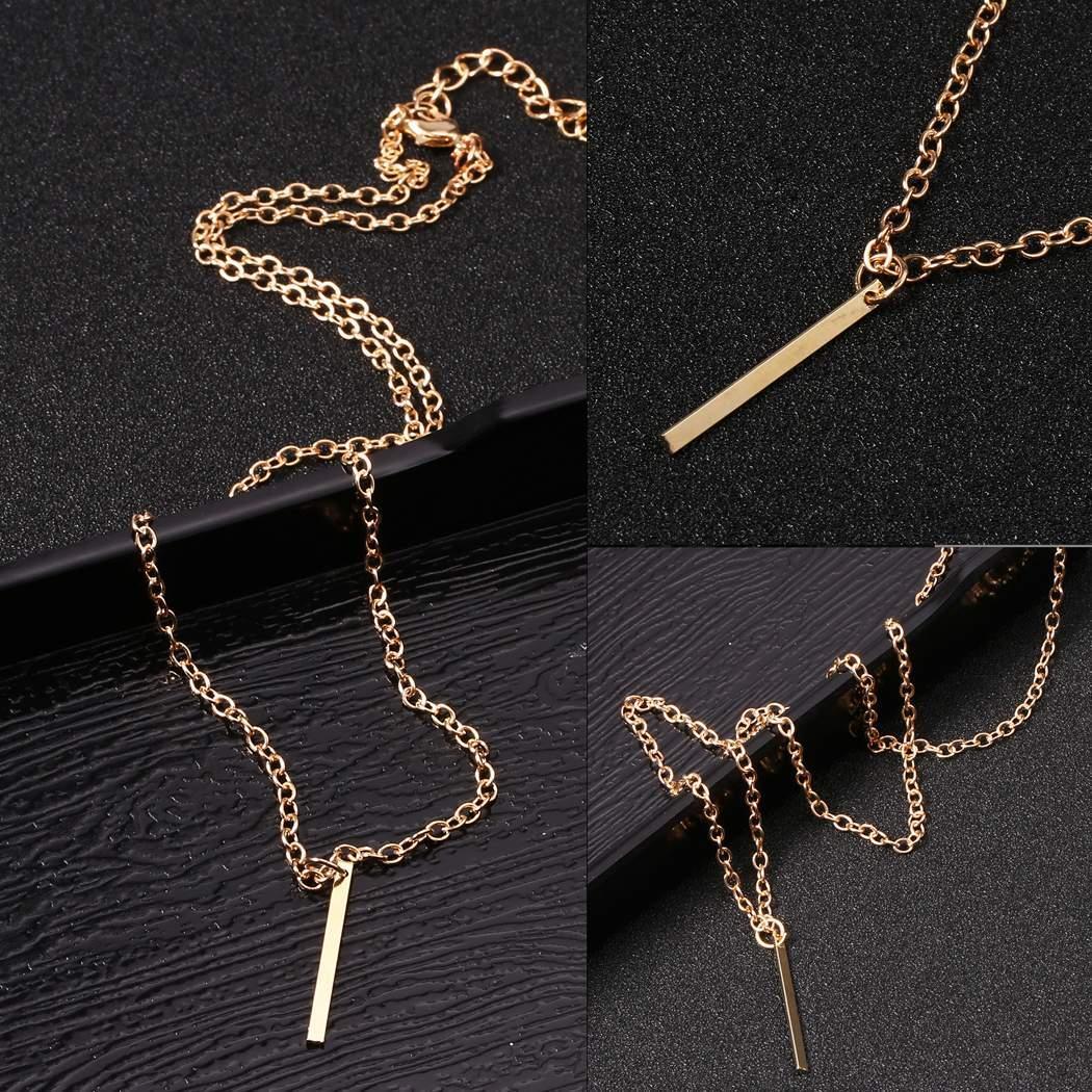 a377d6e485 None Pendant inch 51 Gold Charm Casual Metal Link cm Chain 1 Bar Women 20 Jewelry  Necklace cm Lariat 1 2 Necklaces 5 Drop
