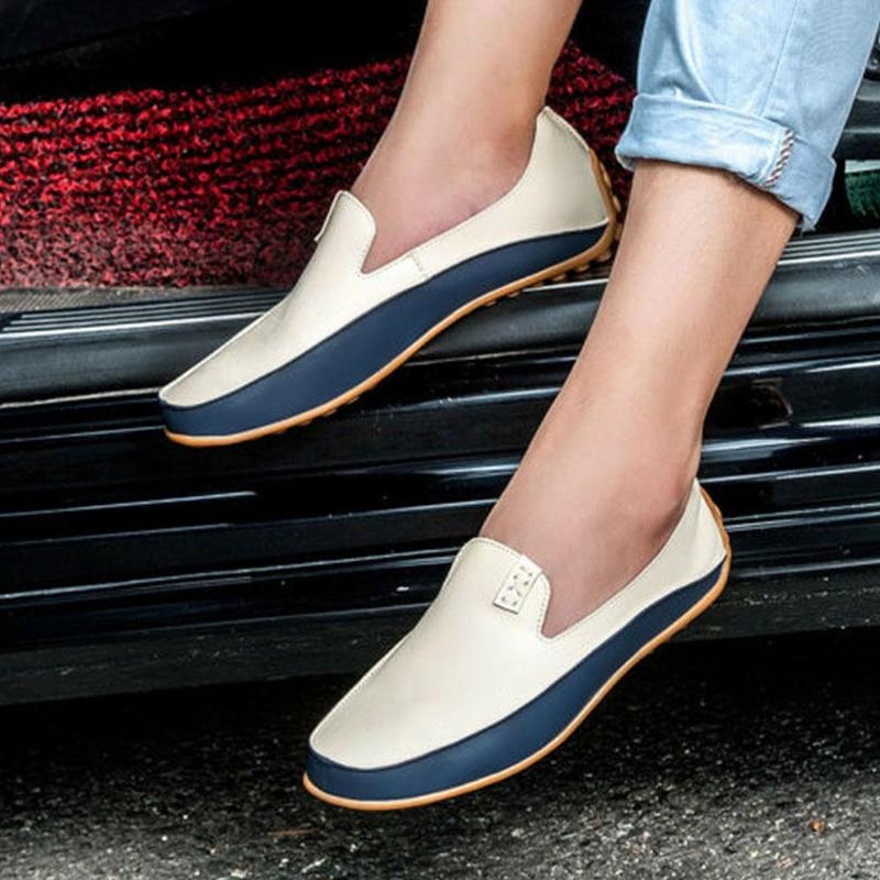 Flats Driving-Shoes Causal-Shoes Men Loafers Leather Moccasins Spring/autumn High-Quality