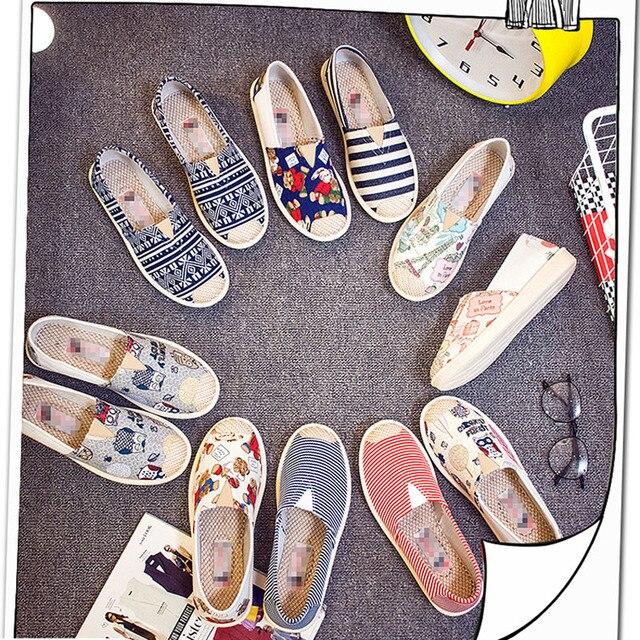 Colori misti Primavera Estate Fannulloni Delle Donne Slip On Appartamento Con Casual Scarpe di Tela 2019 Designer Pigro Appartamenti Scarpe Da Donna Scarpe In Gravidanza