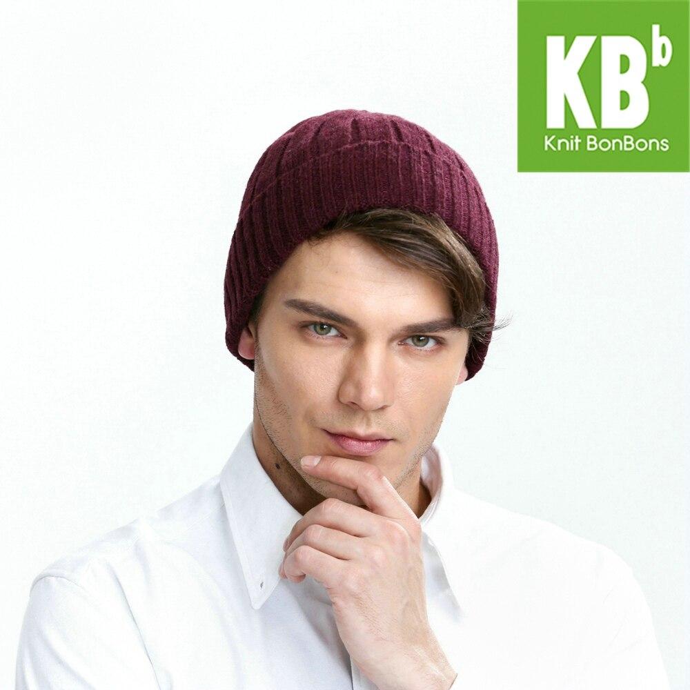 2018 KBB primavera estilos calientes 2 colores rojo azul 100% cálida lana  de punto hombres mujeres accesorios para el cabello sombrero de invierno  Beanie ... e7e0fd28f57a