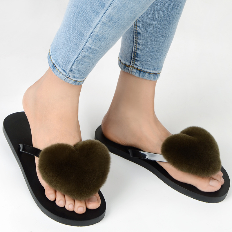 slipper real fur pompom (4)