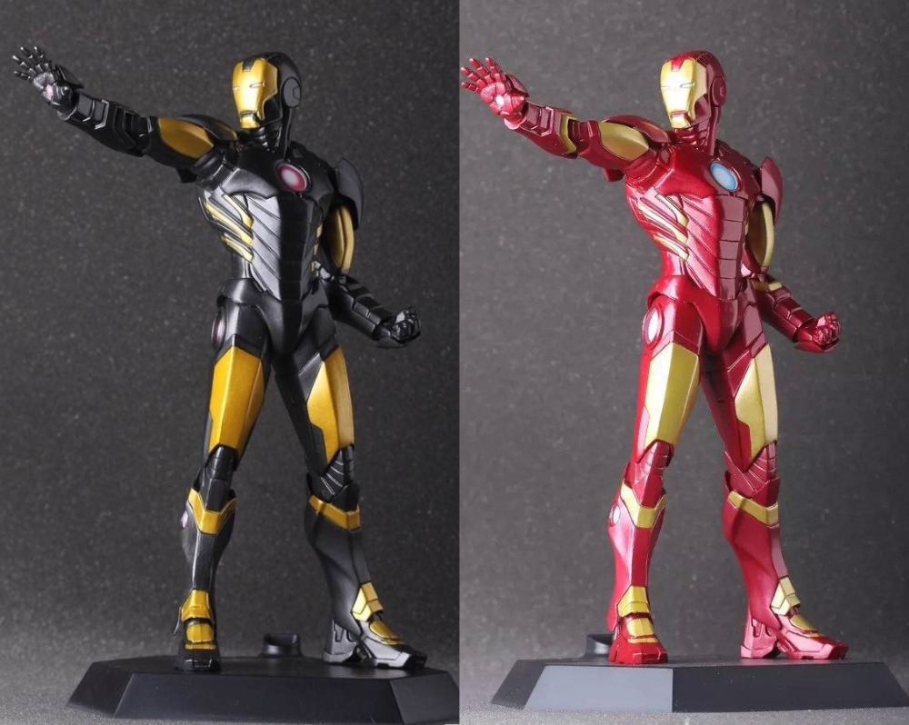 Free Shipping 9 The Avengers Super Hero Ironman Iron Man CT Ver. Boxed 22cm PVC Action Figure Collection Model Doll Toy Gift free shipping 10 pa kai super hero spider man spider man blue ver boxed 26cm pvc action figure collection model doll toy gift
